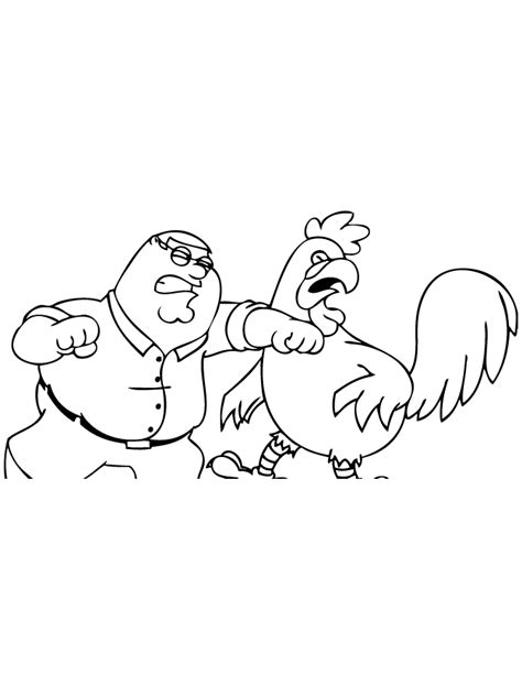 free coloring pages of chris from family guy
