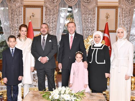 Ottoman Royal Family Turkish President Erdoğan Moroccan King Meet In Istanbul With Families Newmyroyals
