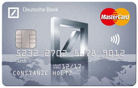 bank kredit karte deutsche bank mit neuer kreditkarte speziell f 252 r reise und
