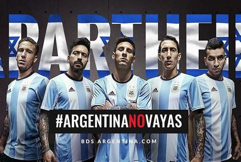 bds calls on argentina to cancel football in israel