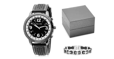 Men's Watch and Bracelet in Gift Box