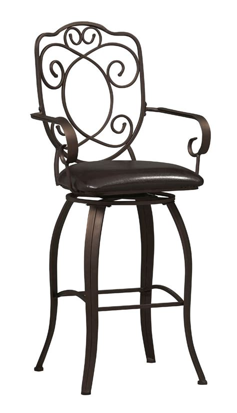 30 inch crested back bar stool by linon home decor in metal bar stools