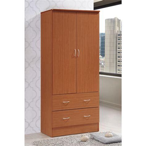hodedah 4 door hodedah 2 door armoire with 2 drawers in cherry hi29