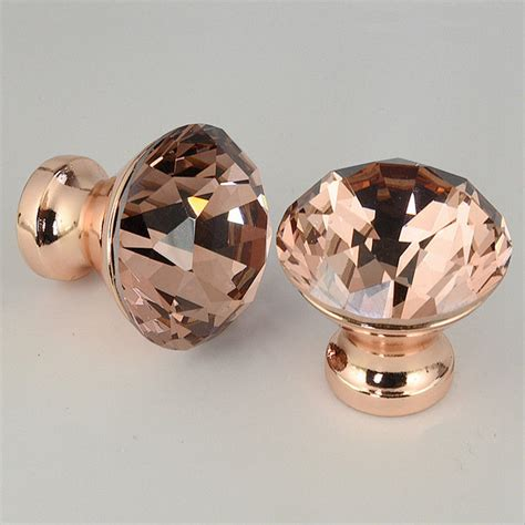 rose gold drawer handles uk 1pc 12pcs rose gold unique color k9 crystal pull handle
