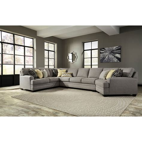 benchcraft sectional benchcraft cresson contemporary 4 piece sectional w