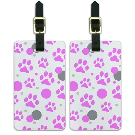 printable luggage tags uk luggage suitcase carry on id tags set of 2 paw print cat