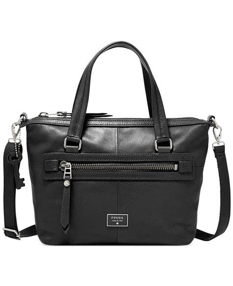 Fosisl Dawson fossil dawson leather satchel in black lyst