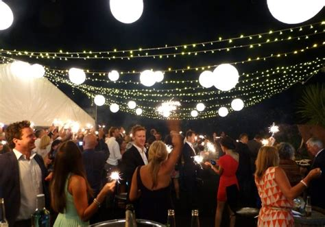 hire for outsidechristmas ligh nye wedding outdoor floor with lights and paper lanterns prestige event