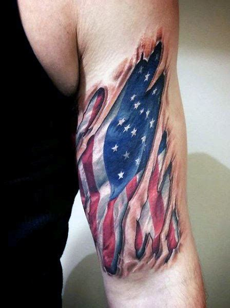 eagle tattoo inner bicep top 60 best american flag tattoos for men usa designs