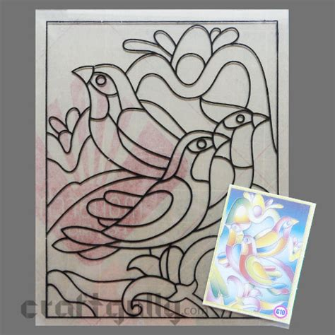 Ready To Glass Paint Stencil Birds Window Painting Templates