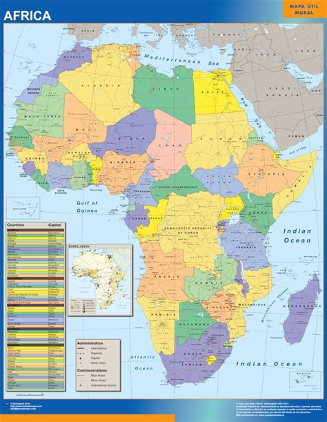 africa map updated our africa political map wall maps mapmakers offers