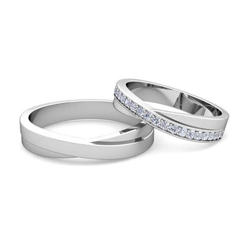 matching wedding band infinity wedding ring set