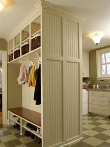 small space mudroom solutions hgtv