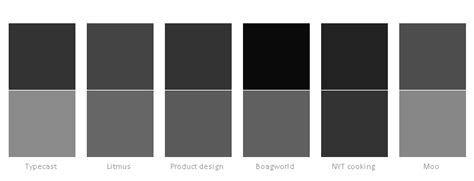 types of grey color typographic patterns in html email newsletter design