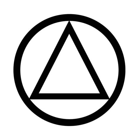 aa tattoos aa sobriety circle and triangle temporary recovery