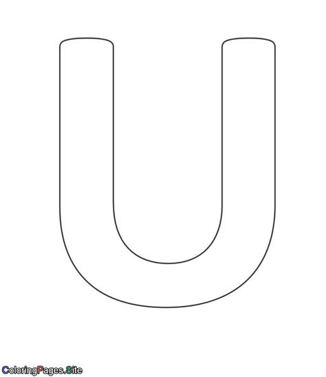 coloring pages of letter u u letter alphabet coloring page