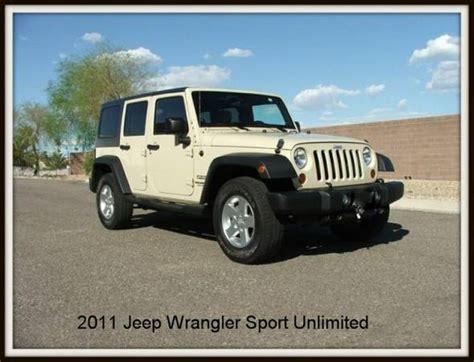2011 Jeep Wrangler Unlimited Horsepower 2011 Jeep Wrangler Unlimited Sport For Sale In Az