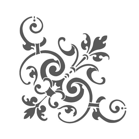 corner template designs corner stencil reusable template for by
