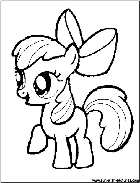 free coloring pages of my little pony apple bloom