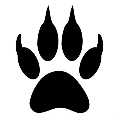 tiger paw template best photos of tiger paw print template tiger paw print
