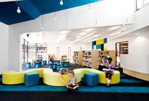 interior school design with colorfull interior