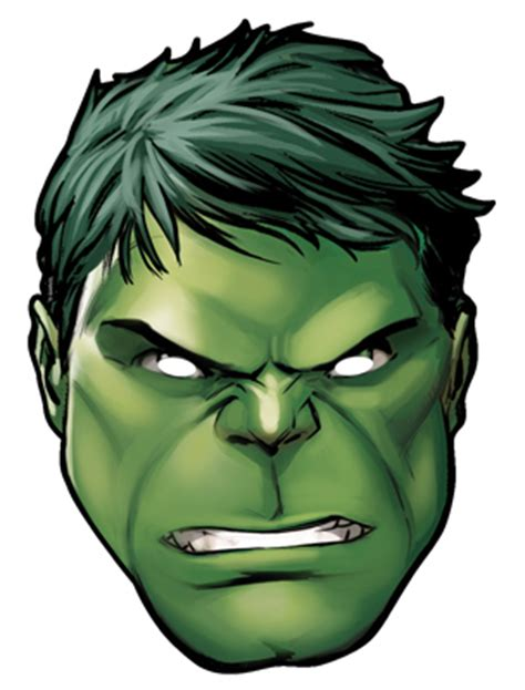 printable hulk mask template hulk from marvel s the avengers single card party face