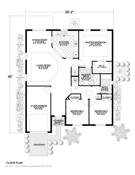 a floor plan of a house california style home plan 3 bedrms 2 baths 1453 sq ft 107 1053