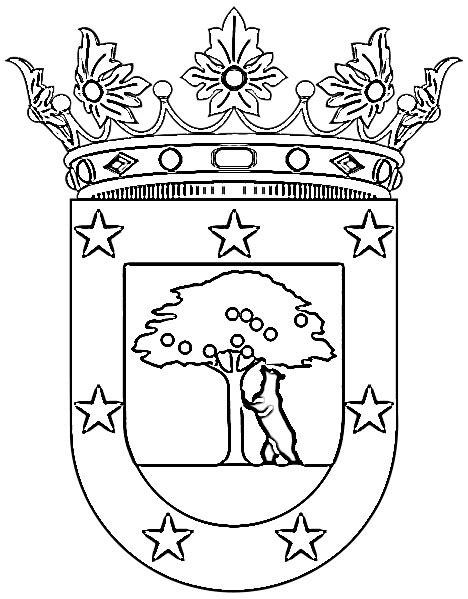 escudo del madrid para colorear az dibujos para colorear dibujo colorear escudo madrid imagui