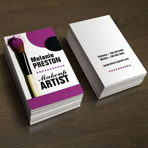 makeup artist business cards business card templates
