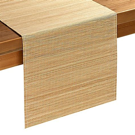 table runners bed bath and beyond bamboo table runner in natural bed bath beyond
