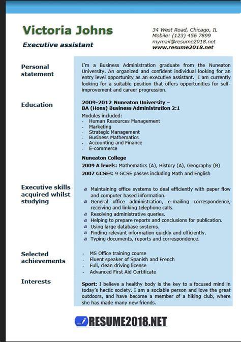 executive resume templates 2018 executive assistant resume exles 2018 resume 2018