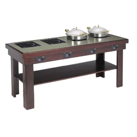 Buffet Table With Induction Warmers 76 Quot X 30 Quot Available Heated Buffet Table