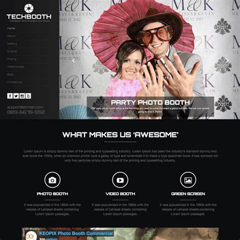 Wordpress Themes Photo Booth | techbooth photo booth wordpress theme