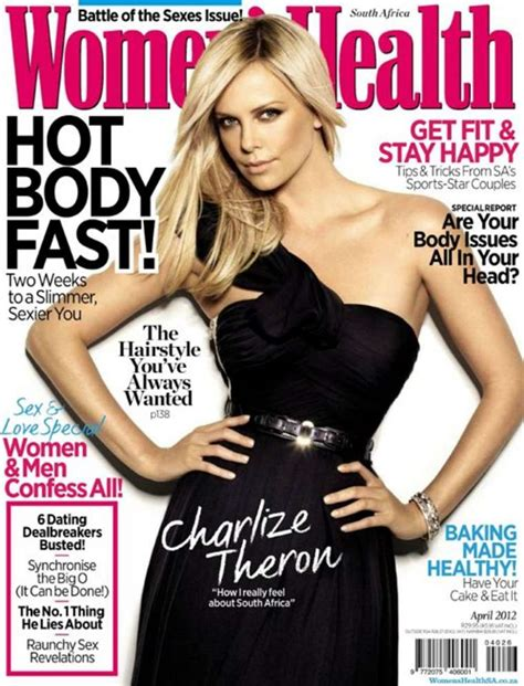 women magazine charlize theron in women s health magazine south africa
