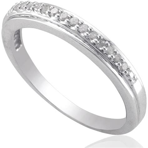 Wedding Bands At Walmart by Forever Accent Sterling Silver Wedding Band