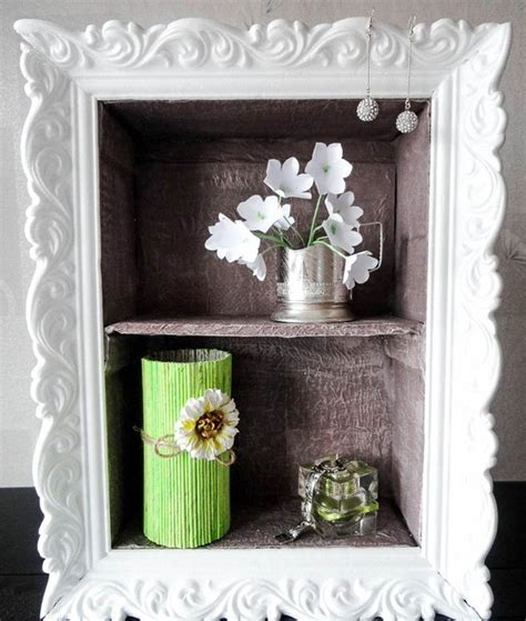 home decor photo frames cheap diy home decor idea decorative cardboard wall shelf