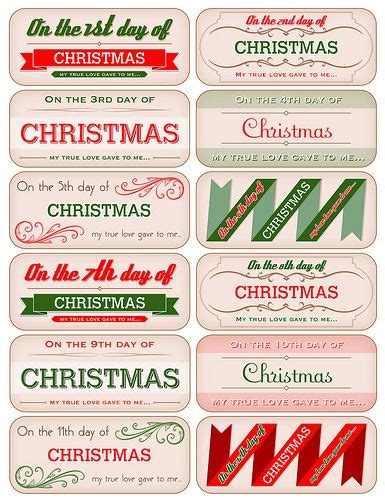 17 Best Images About Gift Tags Free Printables Templates On Pinterest Printable Thank You 12 Days Of Printable Templates