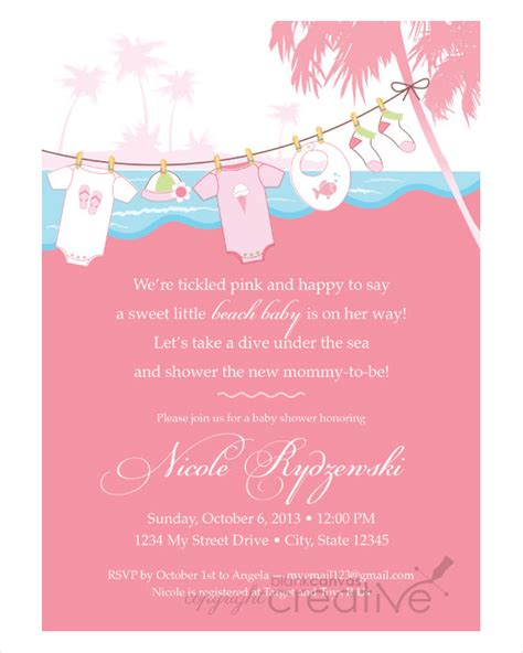 Exles Of Baby Shower Invitations by 43 Baby Shower Invitation Exles