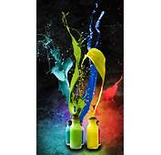 Abstract Color Bottles Splash Android Wallpaper Free Download