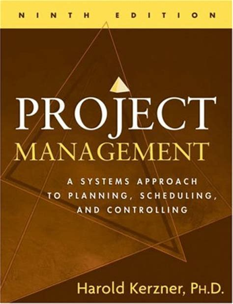 Project Management Book For Mba Pdf by Project Management A Systems Approach To Planning