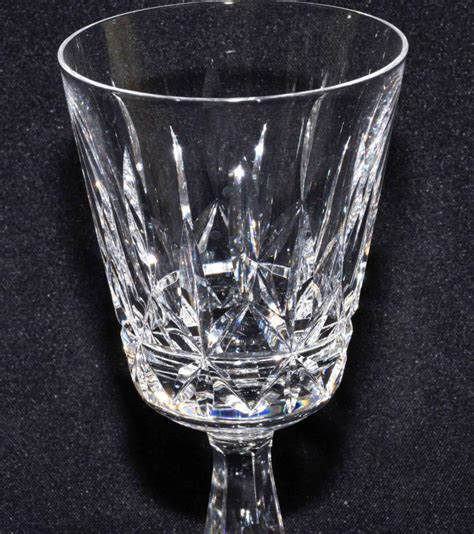 waterford crystal barware waterford crystal 11 lismore stemware water glasses 7 h