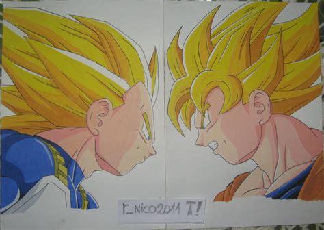 imagenes goku vs vegeta mi dibujo goku vs vegeta taringa