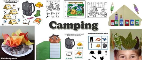 camping preschool activities crafts  games clip art
