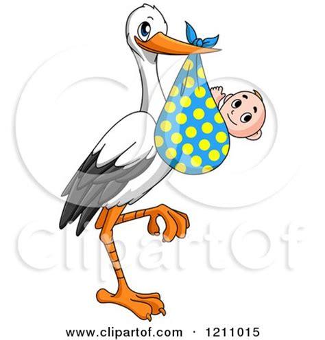 clipart   stork bird   baby   polka dot bundle