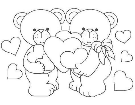 imagenes de ositos con corazones para dibujar ositos para colorear