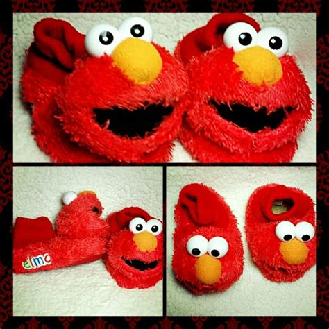 elmo house shoes 40 off other elmo fuzzy socktop slippers house shoes from a treasure box