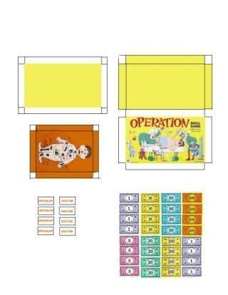barbie printable board games miniature printables operation game mobile photobucket