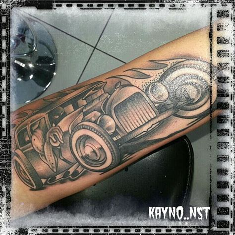 rat rod tattoos start of a rat rod sleeve tattoos make or