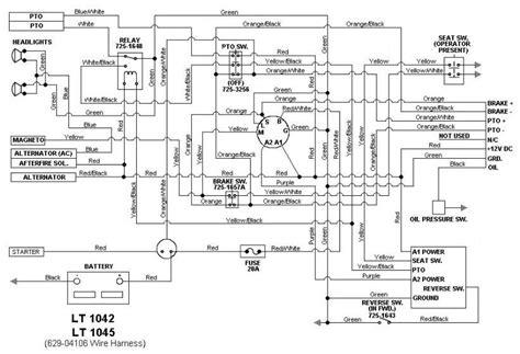 cub cadet lt1045 fuel wiring diagrams wiring