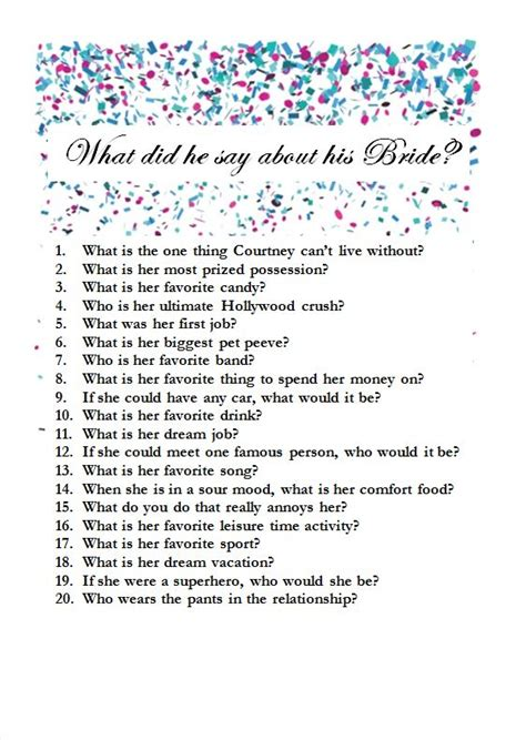 bridal shower questions to ask the quot gum quot i sent jj a series of questions to answer during the court had to